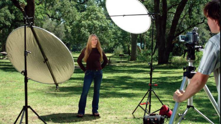 image of model getting photographed