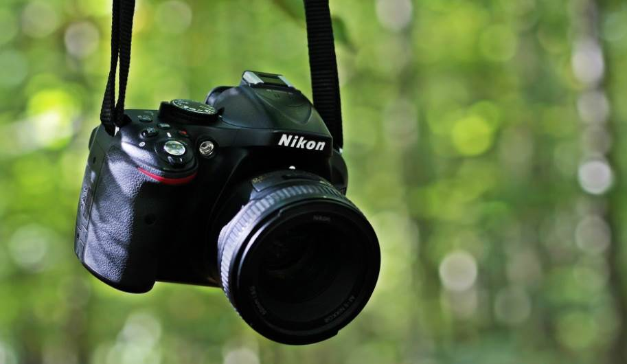 Bokeh photo of a camera