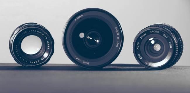 Image of three lenses