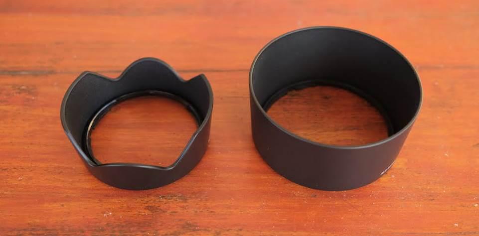 image of Petal Lens Hood and Cylindrical Lens Hood