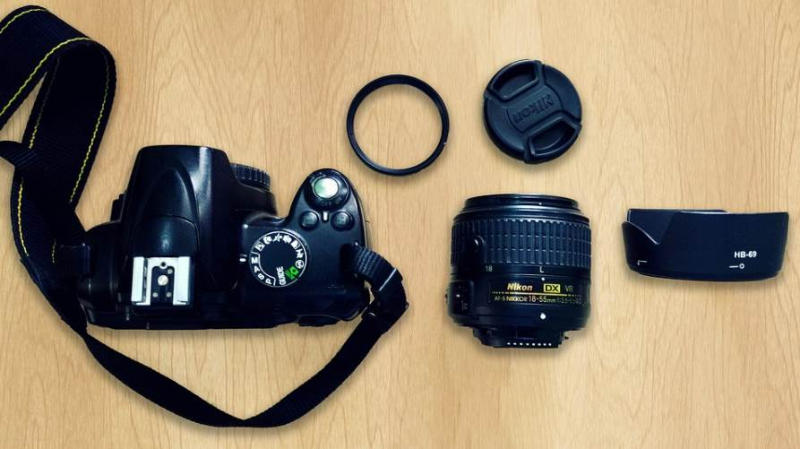 image of camera accessories on the table