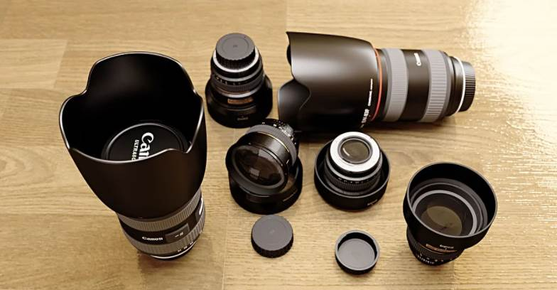 image of multiple types of lens